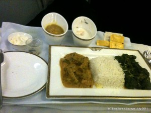 Jet Airways 309, Premiere Dinner Entree