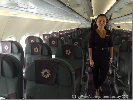 The Economy Cabin and Vistara Stewardess W