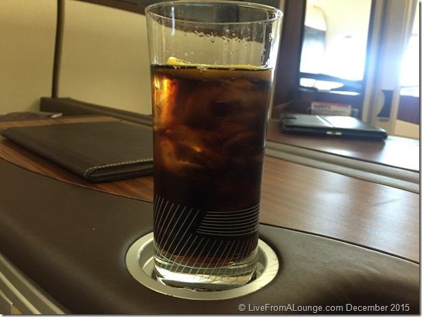 SQ Suites pre-departure beverage