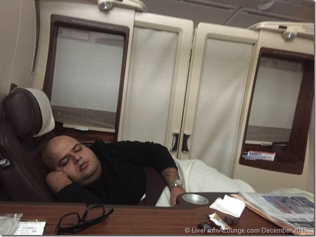 SQ Suites: Sleeping on a day flight