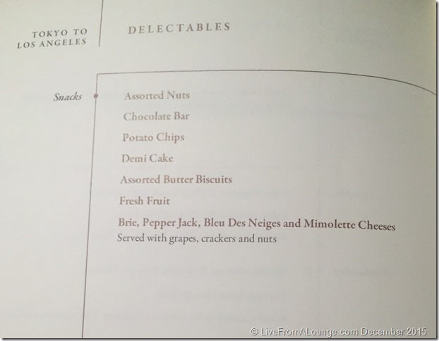 SQ Suites: Delectables Menu