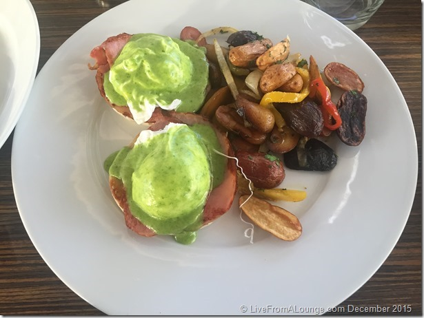 Andaz West Hollywood Riot House Restaurant Eggs Benedict