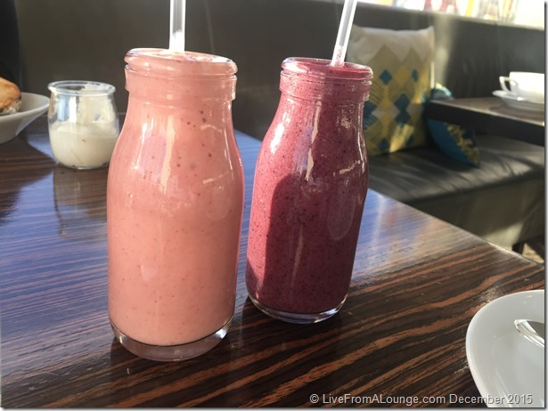 Andaz West Hollywood Riot House Restaurant Smoothies