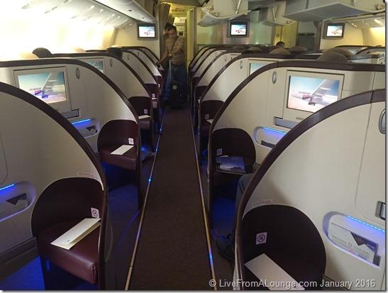 Jet Airways 77W business cabin