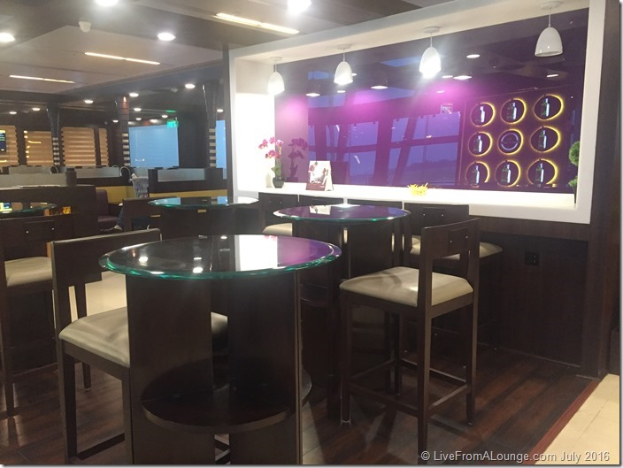 You could sit on loungers, or high stools, or dine alone at the high chairs restaurant