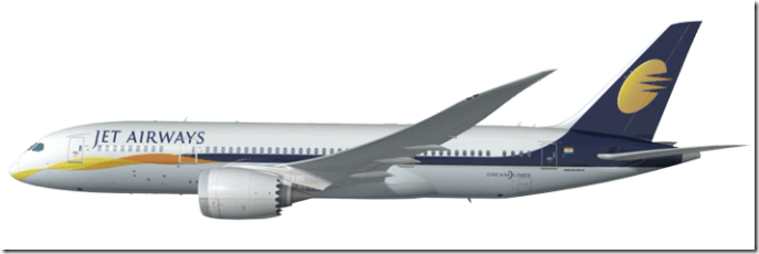 Boeing 787 in Jet Airways colors, image courtesy Boeing