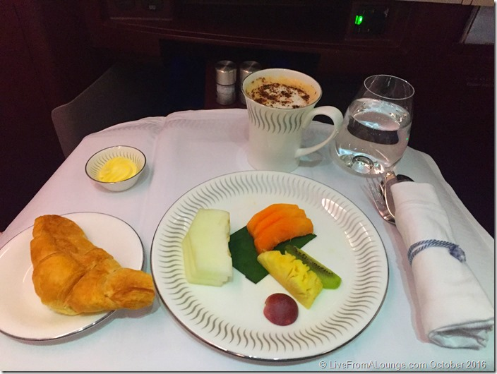 Jet Airways' Business Class Breakfast Service