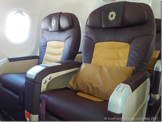 The Business Class cabin moves into Aubergine & Golden trims from the earlier Grey hues