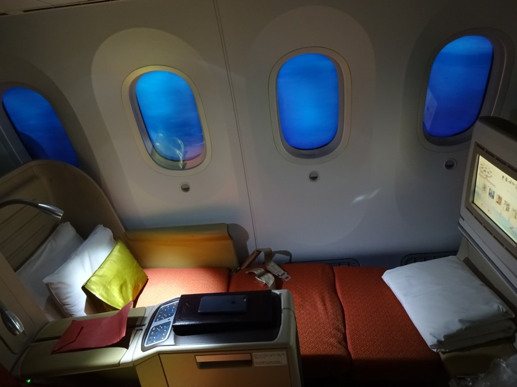 Air India 787-8 Business Class flat bed