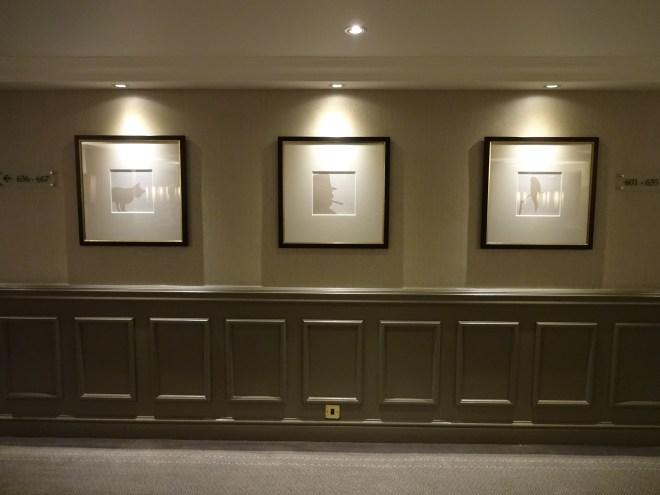 Hyatt Regency London: Art work on the walls inspired by the life of Churchill