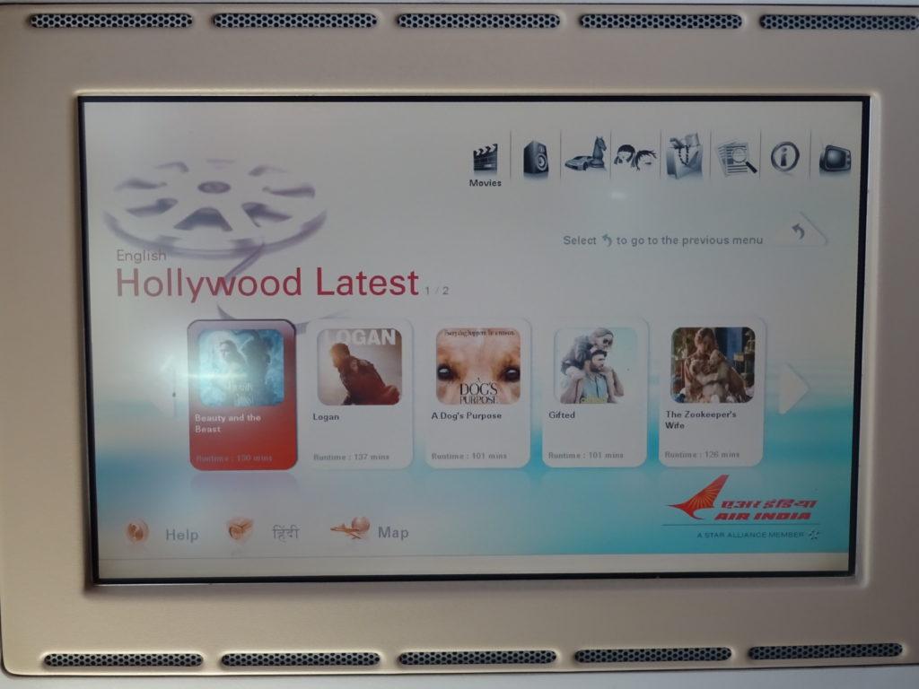 Air India Boeing 787-8 IFE