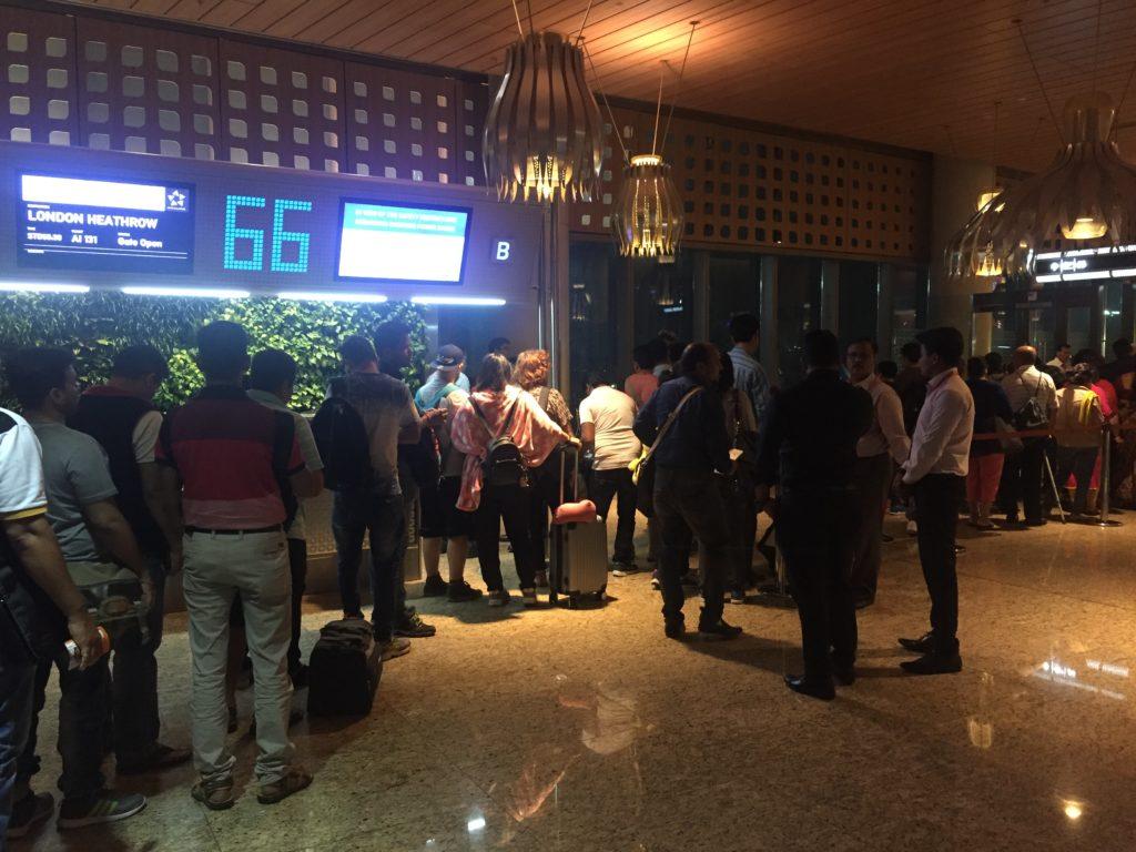 Air India to London Heathrow Boarding