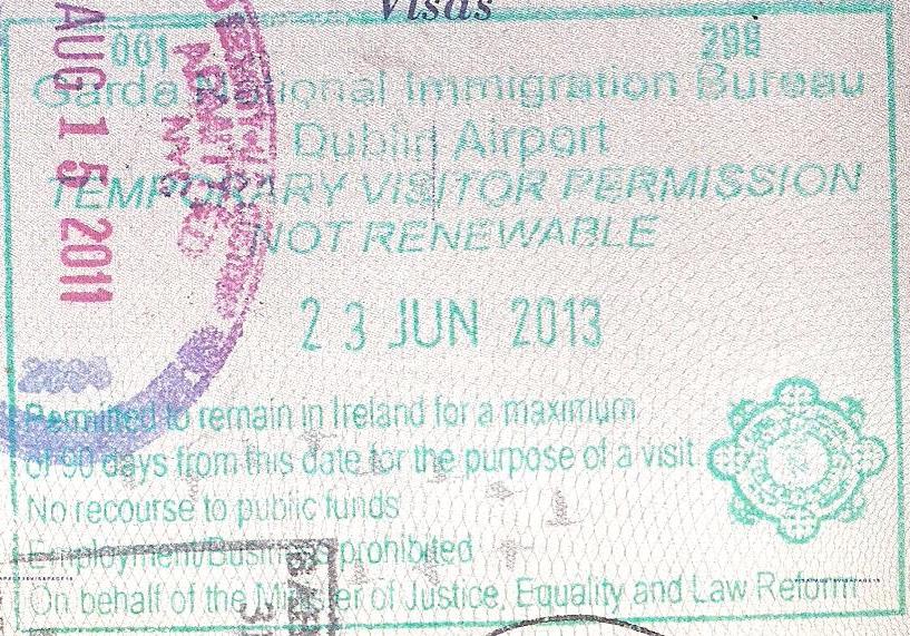 Irish Visitor Entry