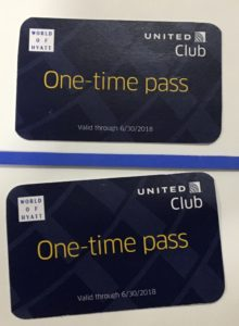 United Club Lounge Access Passes