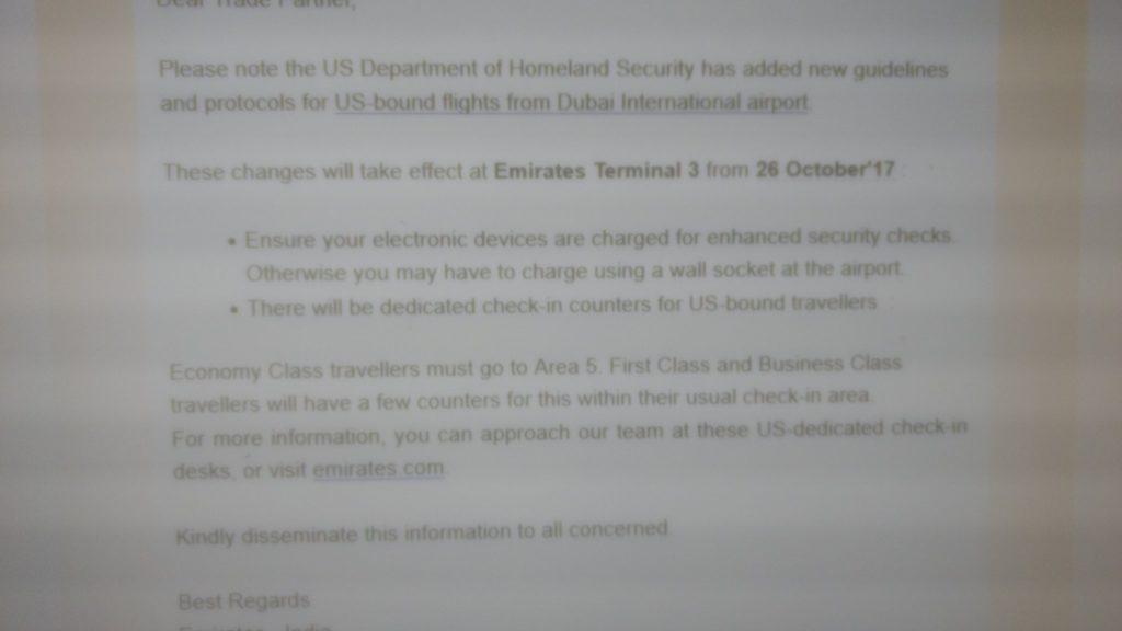 Emirates Enhanced Security Measures
