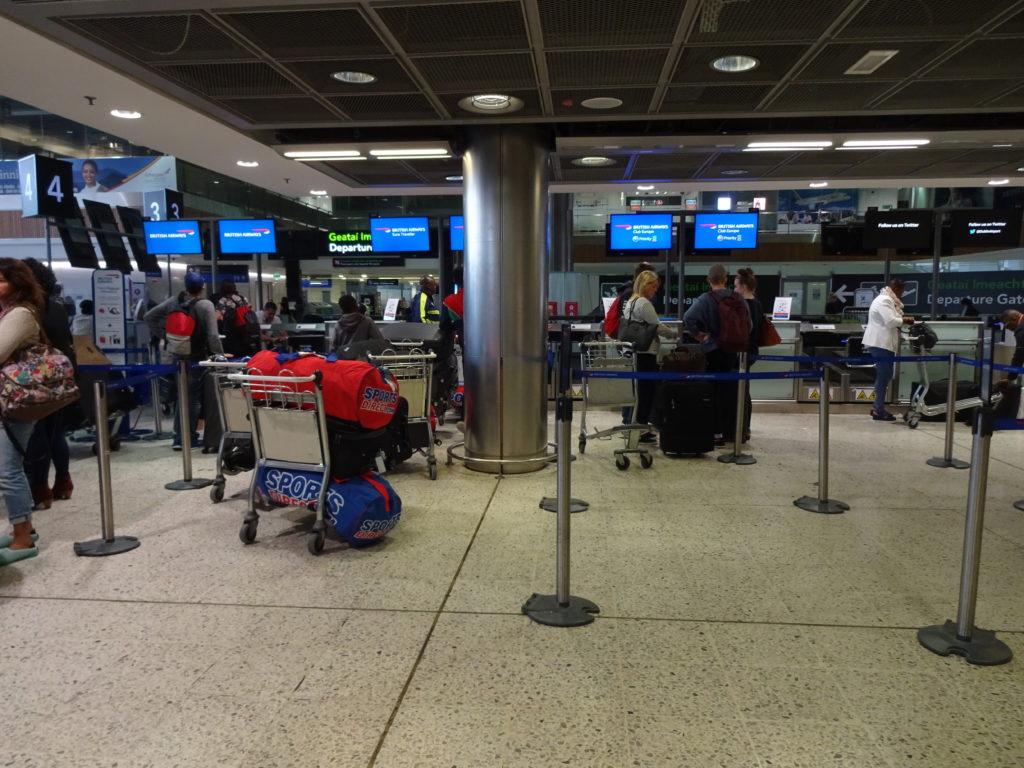 British Airways Check-in at Dublin Airport