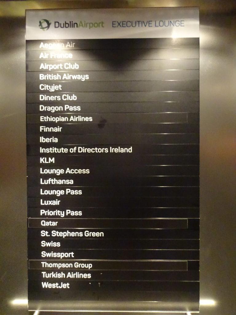 DAA Executive Lounge Terminal 1