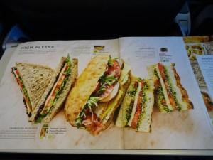 Sandwich Menu British Airways Buy on Board