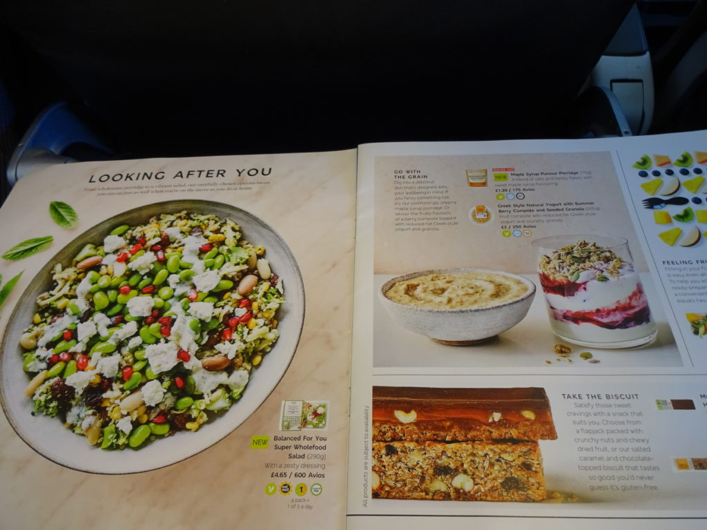 Healthy Eating Menu British Airways Buy on Board