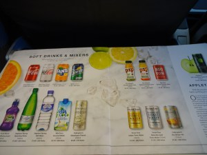 Cold Beverages Menu British Airways Buy on Board