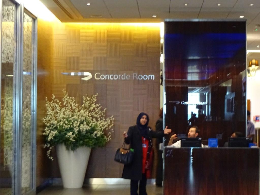 British Airways Concorde Room Entrance