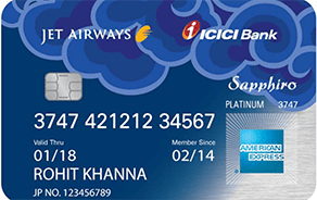 Jet Airways ICICI Bank Sapphiro American Express Credit Card
