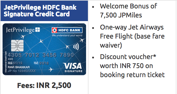 JetPrivilege HDFC Bank Signature Credit Card