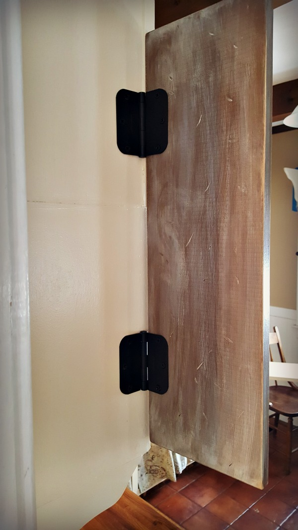 DIY recipe holder with hinges 2