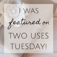 Two Uses Tuesday Blog Feature