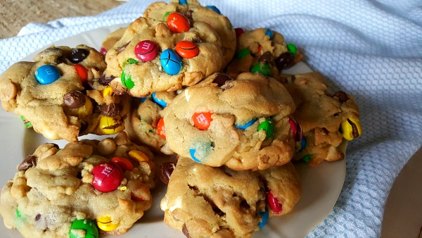 Epic pudding cookies - These easy pudding cookies are jam packed with chips and candy and they will rock your world - I promise!