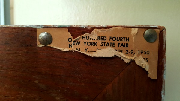 Tag from 1950 NY State Fair
