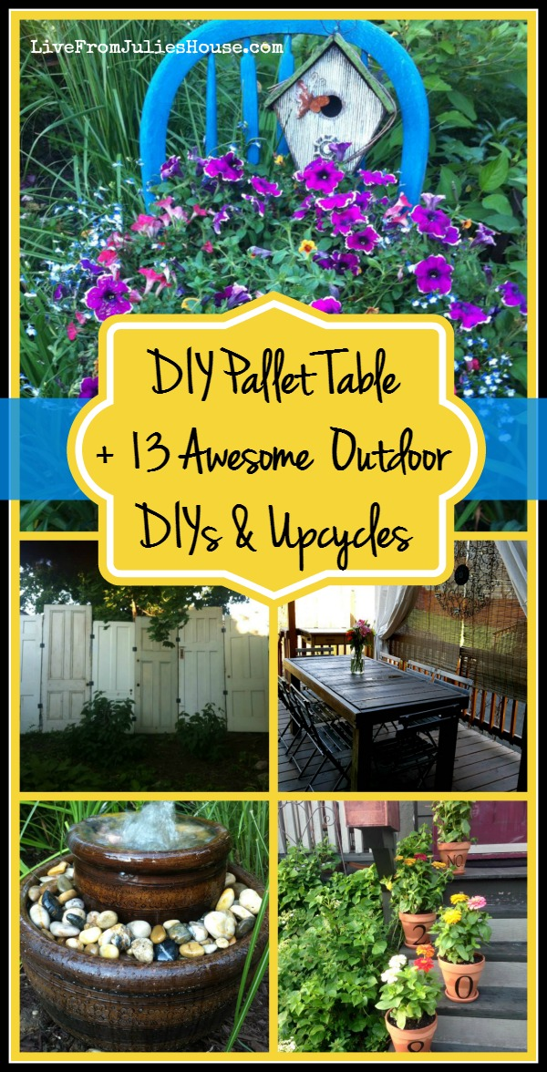 DIY Pallet Table + 13 Easy Outdoor DIY Projects & Upcycles