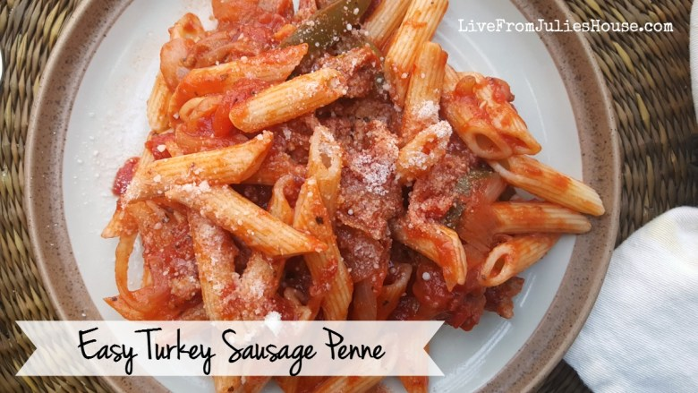 My Fast & Easy Turkey Sausage Penne is simple to make and the flavor is FABULOUS. It makes a great meal for busy weeknights.