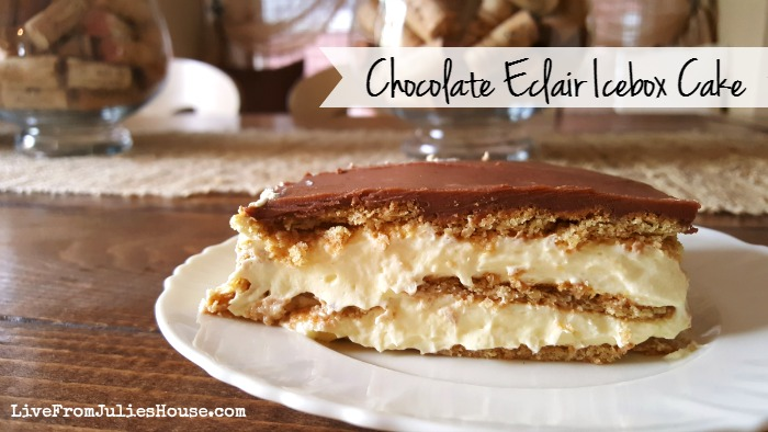 Chocolate eclair icebox cake - Looking for an easy, no bake summer dessert that your guests will love? Try my Chocolate Eclair Icebox Cake - it's yummy and SO simple to make.
