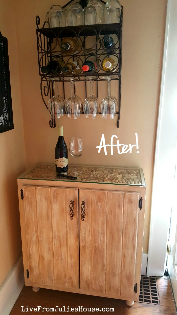 DIY Liquor Cabinet   I Created A Budget Friendly DIY Liquor Cabinet Out Of  A Sad
