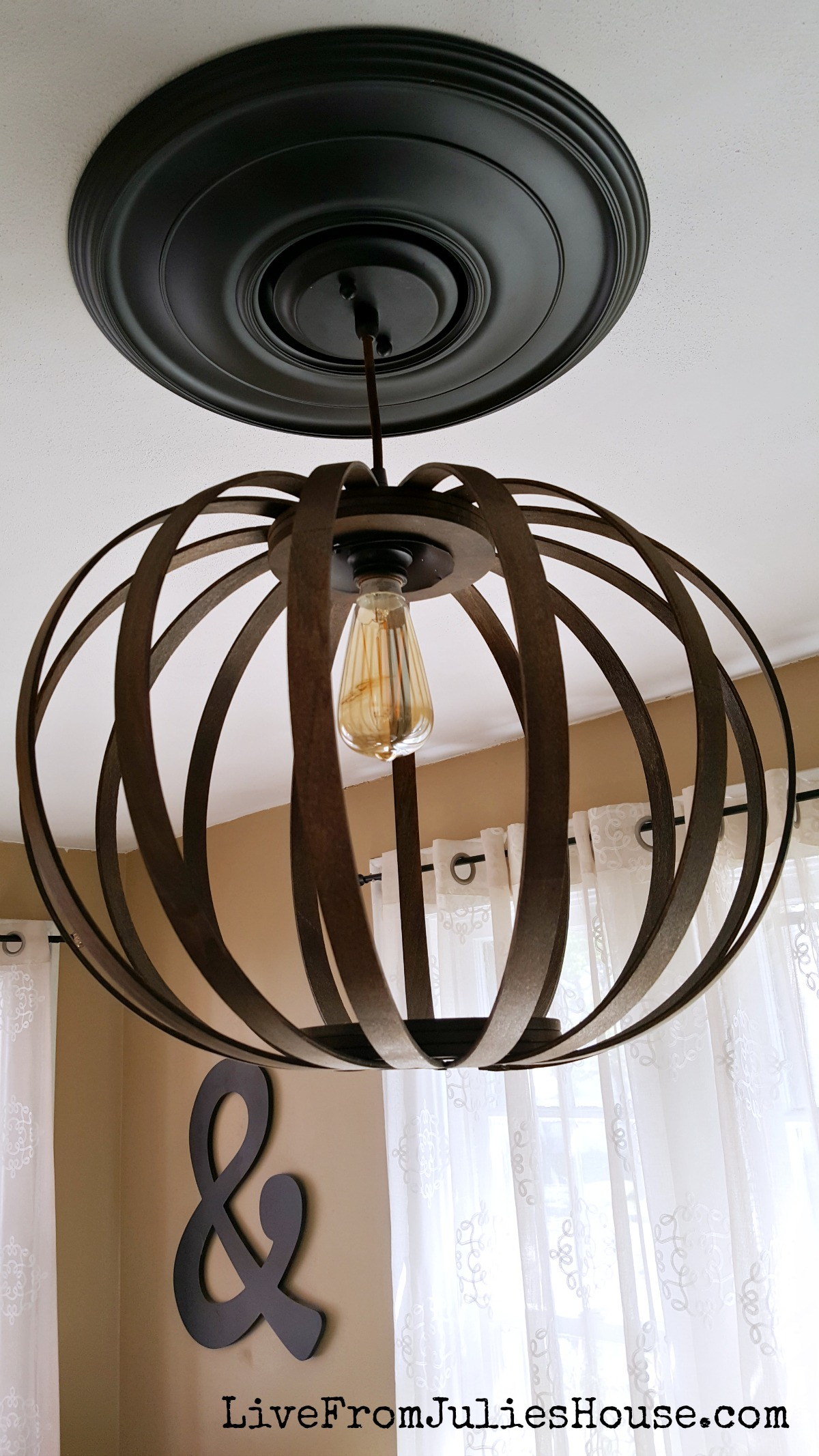 West Elm DIY Bentwood Pendant - I tackled the famous West Elm knock off project and & West Elm DIY Bentwood Pendant Debacle - Live from Julieu0027s House azcodes.com