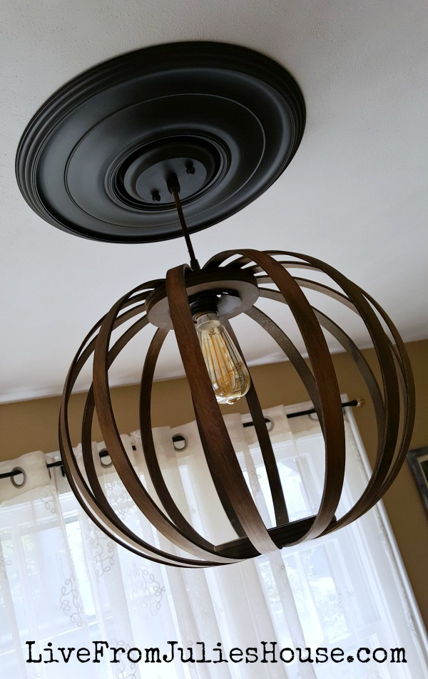 West Elm DIY Bentwood Pendant - I tackled the famous West Elm knock off project and it did NOT go as planned