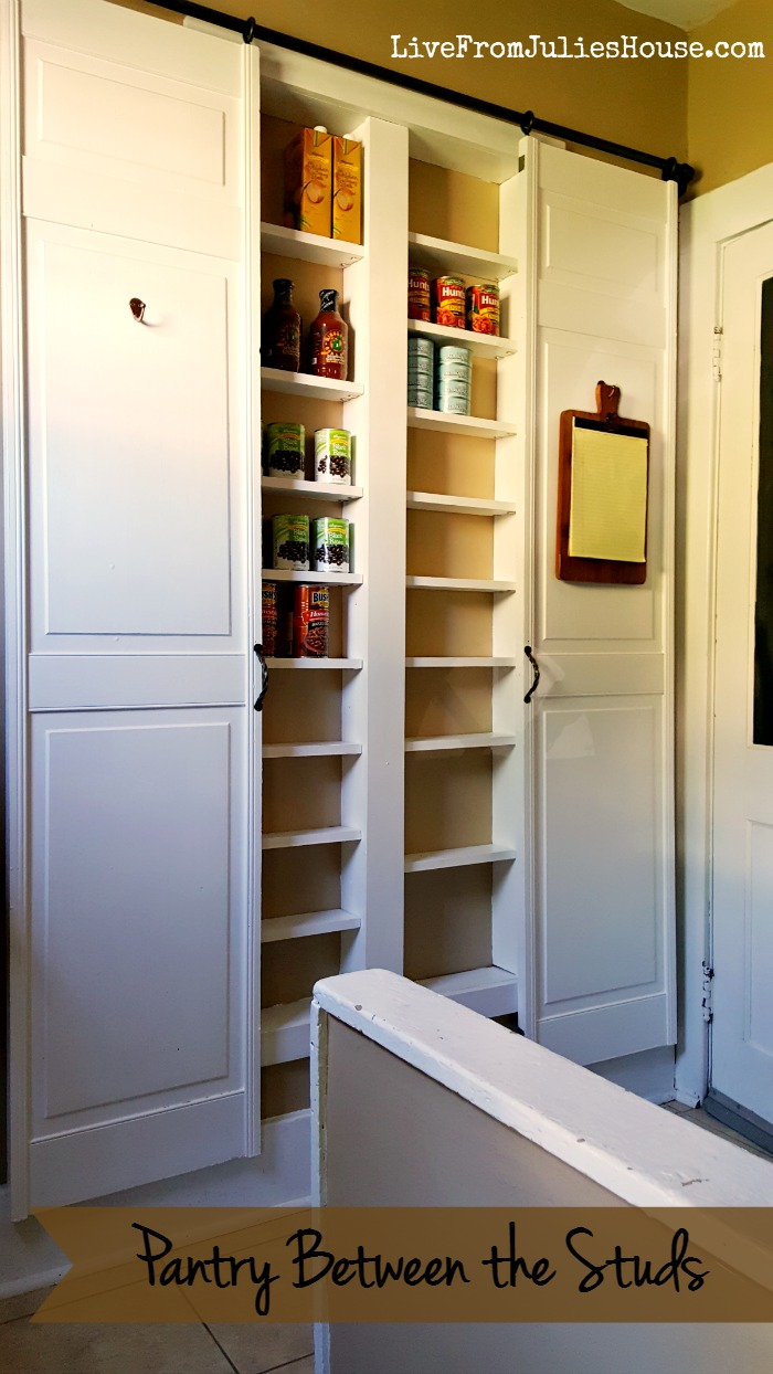 Pantry Between The Studs   Are You Short On Kitchen Storage? This DIY Pantry  Between