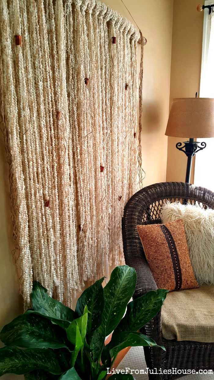 Easy Boho Yarn Wall Hanging Tutorial Live From Julie S House