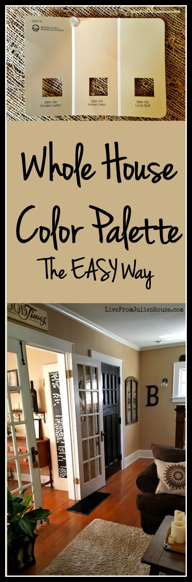 whole house color palette the easy way live from julie s house