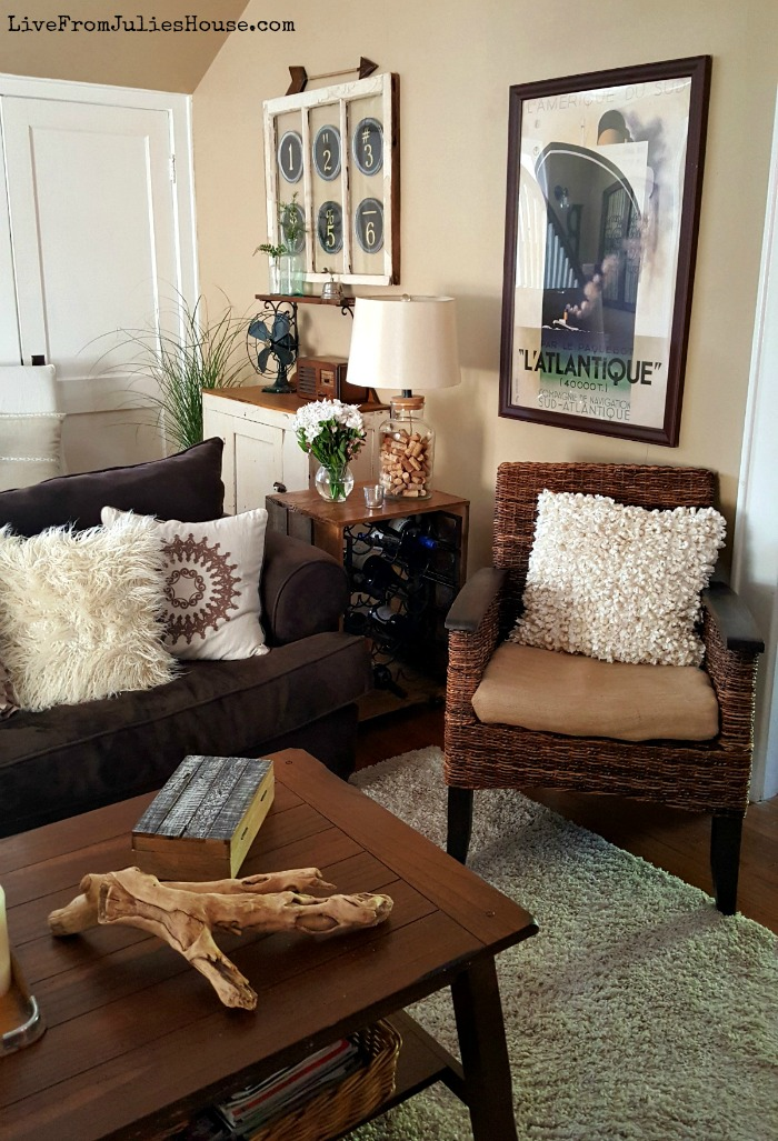 Monochromatic Boho Living Room Take a