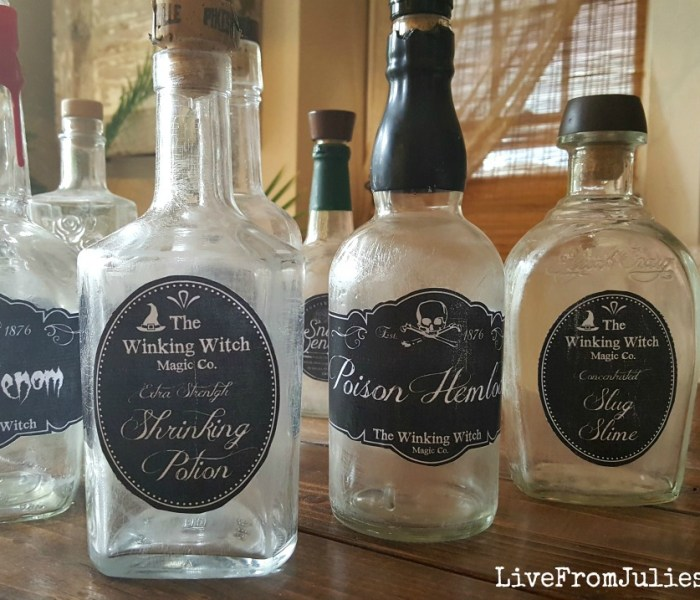 Halloween Decor on the Cheap: DIY Potion Bottles