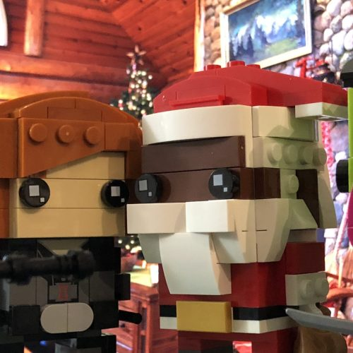 LEGO Brickheadz Soul Santa, Black Widow, Princess Leia, and Gamora
