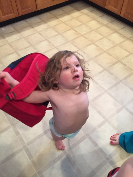 Ella gets ready to leave
