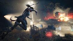 Shadow of the Tomb Raider - Лара Крофт в прыжке с ножом