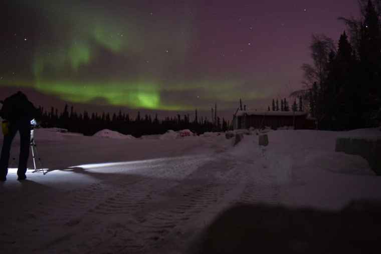 Northern lights photo after moving to Alaska