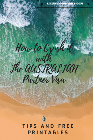 Tips trick and a guide with free printables to help you succeed with the Australian Partner Visa online. Good luck!