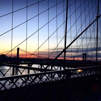 Queensboro Bridge from Brooklyn Bridge at Sunrise