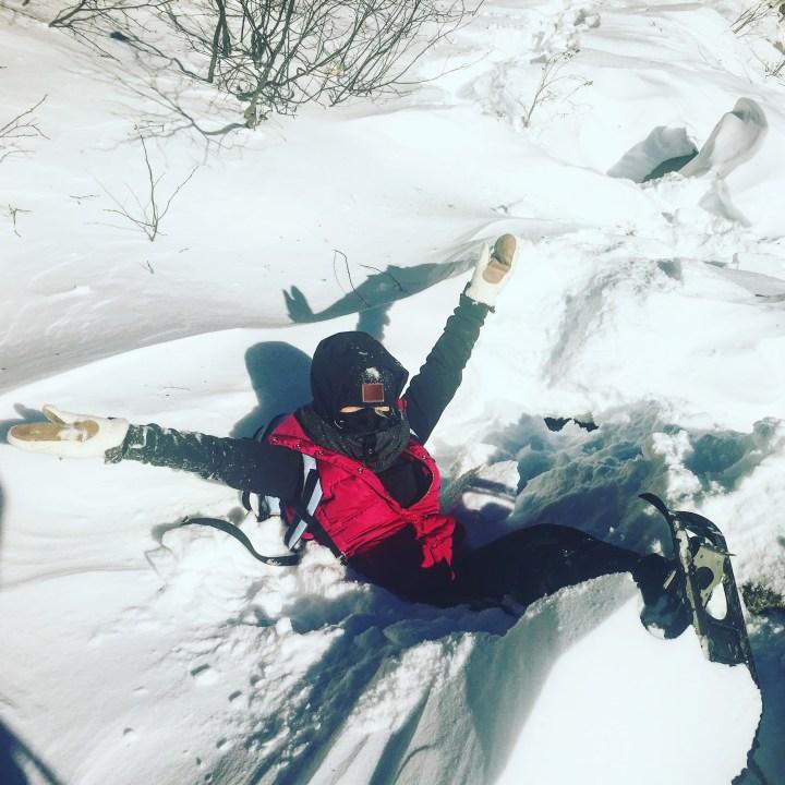 Snowshoeing Through Crawford Notch