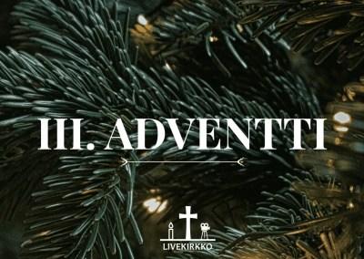 15.12.2019 – 3. Adventin jumalanpalvelus Hyvän Paimenen kirkosta